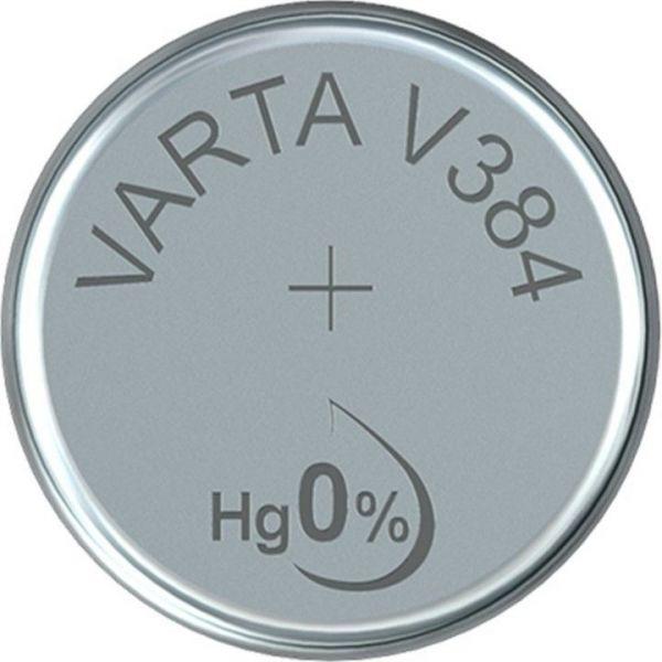 Silberoxid-Knopfzelle Typ SR41 / V384 von Varta
